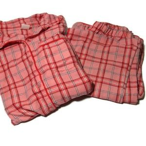 GAP Kids Pajamas Size 12 Pink Plaid Flannel Set